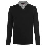 Pierre Cardin férfi pulóver, fekete