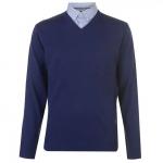 Pierre Cardin férfi pulóver, kobaltkék