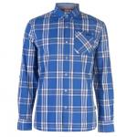 Lee Cooper LSC férfi kockás ing, kék-fehér-sötétkék