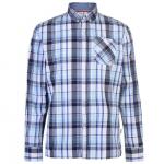 Lee Cooper LSC férfi kockás ing, fehér-sötétkék-kék