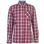 Lee Cooper LSC férfi kockás ing, piros-fehér-sötétkék