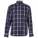 Pierre Cardin kockás férfi ing, kobaltkék-fekete