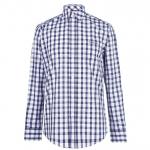 Pierre Cardin Check férfi ing, sötétkék-fehér