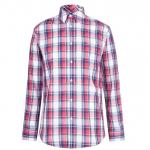 Pierre Cardin Check férfi ing, sötétkék-piros