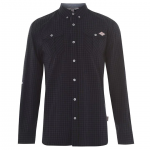 Lee Cooper kockás férfi ing, fekete-szürke
