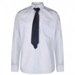 Pierre Cardin férfi ing és nyakkendő szett, világoskék-mintás