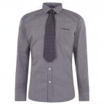 Pierre Cardin férfi ing és nyakkendő szett, fekete-mintás