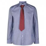 Pierre Cardin férfi ing és nyakkendő szett, sötétkék-mintás