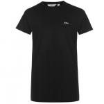 Lee Cooper Essentials férfi póló, fekete