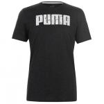 Puma Logo férfi póló, sötétszürke-fehér