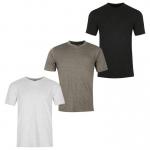 Donnay férfi V-nyakú póló triopack, szürke-sötétszürke-fekete