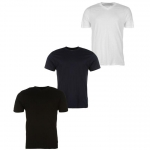 Donnay férfi V-nyakú póló triopack, fekete-fehér-sötétkék